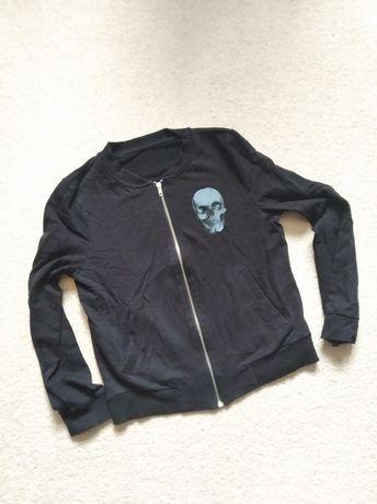 Bluza print czaszka bomberka bomber czacha