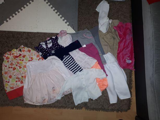 Sukienki,spodnie, sweterek 74-80