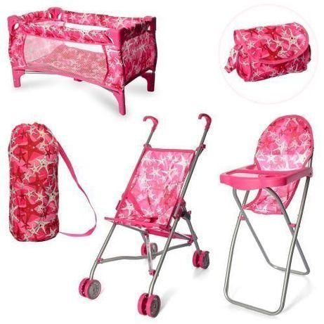 Стульчик для кормления, манеж кроватка, коляска, для кукол, пупса,9001