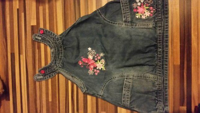sukienka dzins/jeans r. 92, Stan idealny