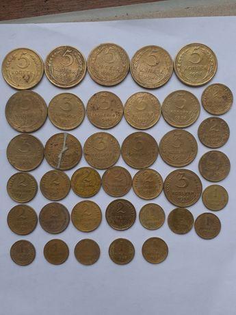 Монеты СССР , 5 копеек , 3 копейки , 2 копейки , 1 копейка