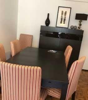Mesa / Cadeiras Forradas e Aparador IKEA + Estante Escada