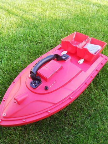 Nowa łódka zanętowa czerwona, niczym flytec