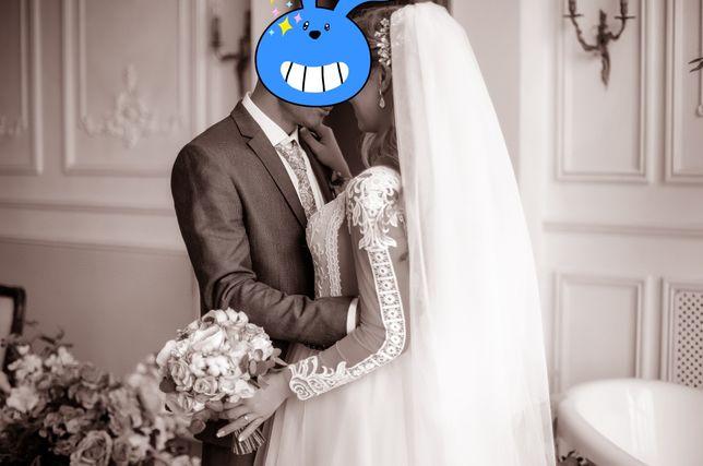 Шикарное Свадебное платье(размер с-м)