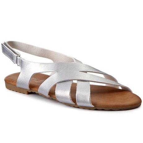 Sandały Magic Lady r.38 srebrne