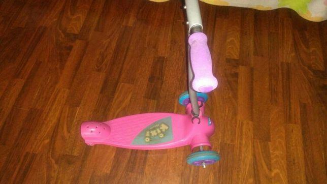Детский самокат KIXI KIX pink/purple, срочно,цену снижено