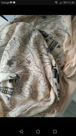 Oryginalna chusta apaszka pudrowy róż wzór Answear Nowa designerska