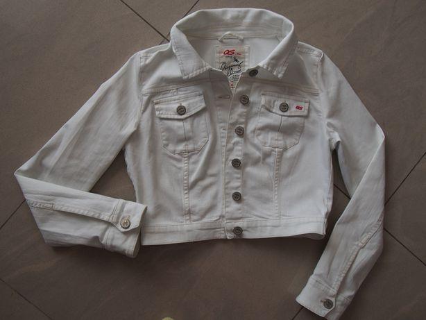 Kurtka jeans ramoneska 36/38 biała Oliver