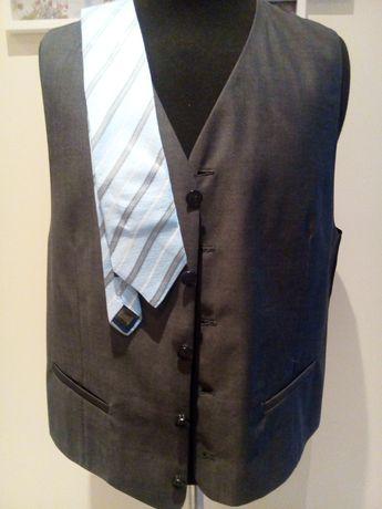 Spodnie, kamizelka Lanerossi M, krawat Esprit