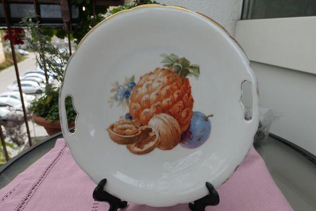 Przedwojenna patera z motywem owoców Bohemia/Victoria Czechoslovakia