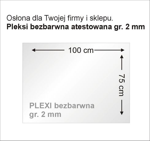 Osłona płyta ochronna z plexi antywirusowa pleksi