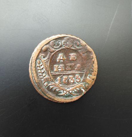 Денга 1735 г. времен Анны Иоанновны Хорошо сохранилась
