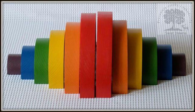 Tęcza 6- elementowa, zabawka drewniana, układanka, tęcza Montessori