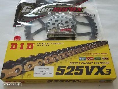 Kit Transmissao corr. DID VX X-Ring Suzuki GSF 650 F Bandit de 2007 a 2016
