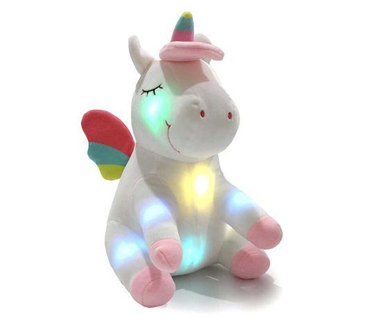 Плюшевый единорог с подсветкой LED Magic Unicorn плюшевий єдиноріг