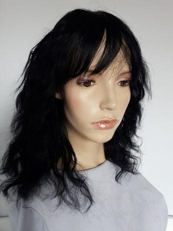 WYPRZEDAŻ-60% peruka naturalna włosy kręcone falowane #1 human hair