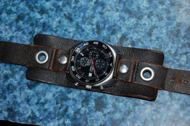 Zegarek Fossil Blue Speedway Chronograph CH-2338 Retro Skóra