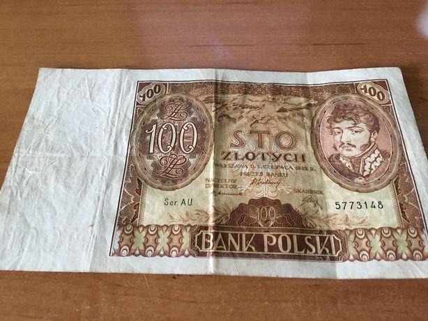 Banknot Polska 100zł 1932