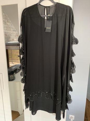 Nowa czarna sukienka Twin Set oversize IT 48 TwinSet