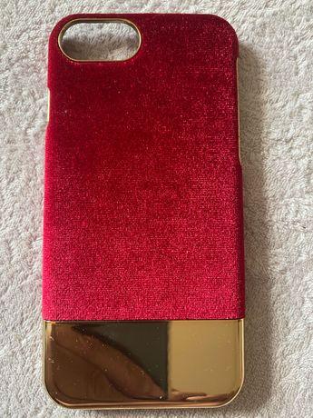 Защитное стекло, чехол на Айфон 7 макс,  красный на Айфон 7