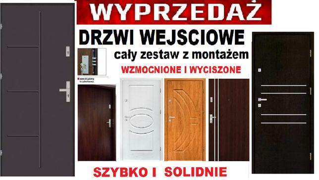 Drzwi blokowe do mieszkania-wejściowe ZEWNĘTRZNE-wewnętrzne z montażem