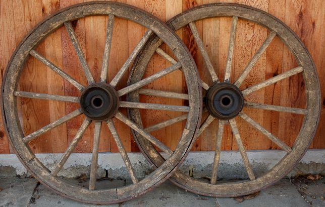 Koła drewniane do wozu konnego