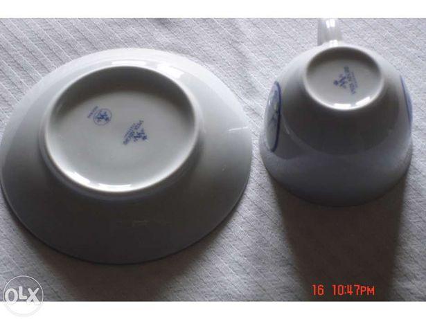 6 Chávenas de Café FIGURAS em porcelana fina da Vista Alegre
