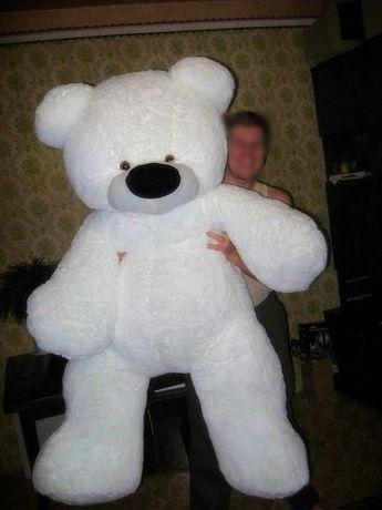 продам большого белого плюшевого медведя
