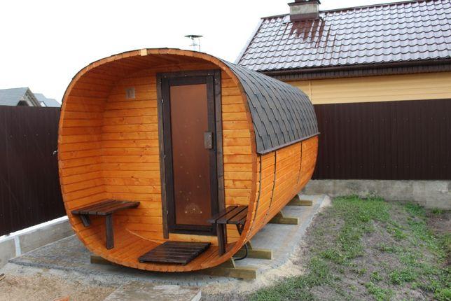 sauna ogrodowa owalna 4 m agroturystyka
