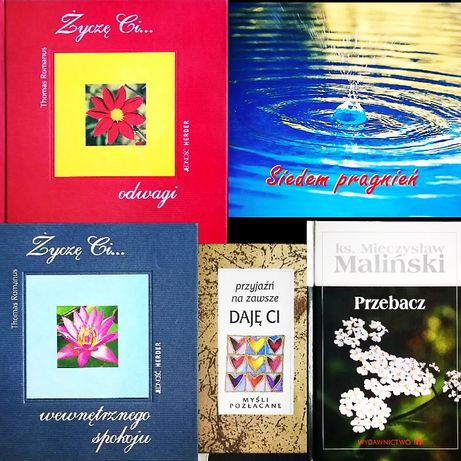 5 Książek Mądrości życiowe: Życzę Ci... Przebacz Przyjaźń Pragnienia