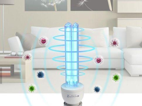 Бактерецидна кварцева лампа для знищення вірусів, бактерій, запахів
