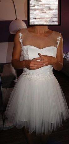 Sukienka ślubna - Cywilny - krótka