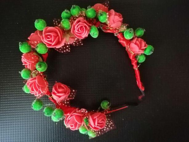 обруч из фоамирана цветы розы и сахарные ягоды