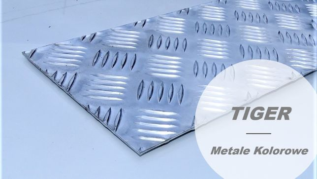 Blacha aluminiowa gładka / ryflowana 1000 x 2000 x3 mm