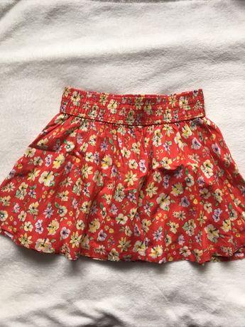 Czerwona spódnica w kwiaty, H&M 38