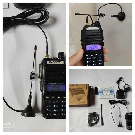 Walkie Talkie + Antena íman carro 8 watts Baofeng UV 82 programável