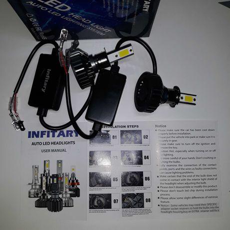 Żarówki samochodowe LED H3 z Canbus 6000k 20000lm nowe