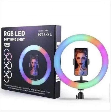 Кольцевая LED лампа 32 см / Световое кольцо для селфи RGB