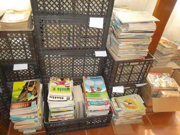 Centenas de revistas Tintin