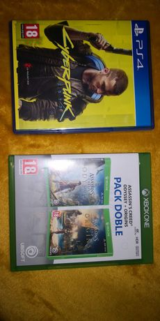 Cyberpunk PS4  + Doble pack assassins creed xbox one