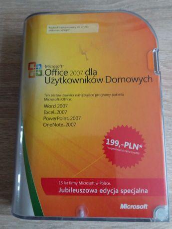 Microsoft Office 2007 box dla użytkowników domowych na 3 komputery