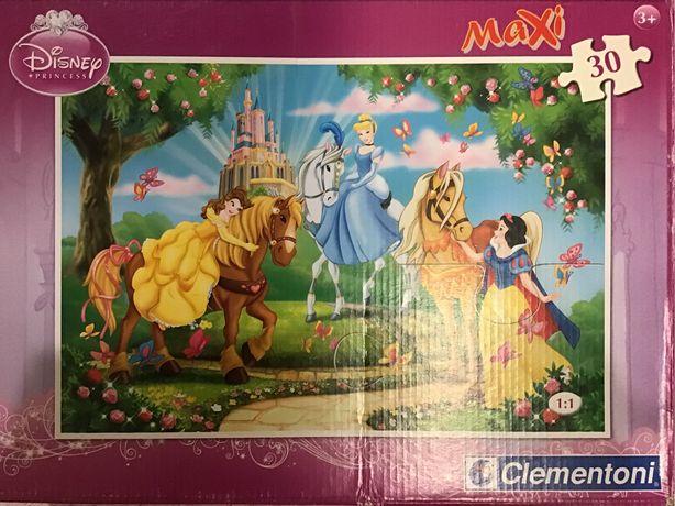 Duze Maxi puzzle Disney ksiezniczki 30 szt