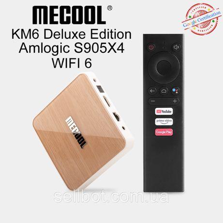 ⫸TV-Приставка MECOOL KM6 Deluxe 4/64ГБ AndroidTV 10.0 Андроид X96Ugoos