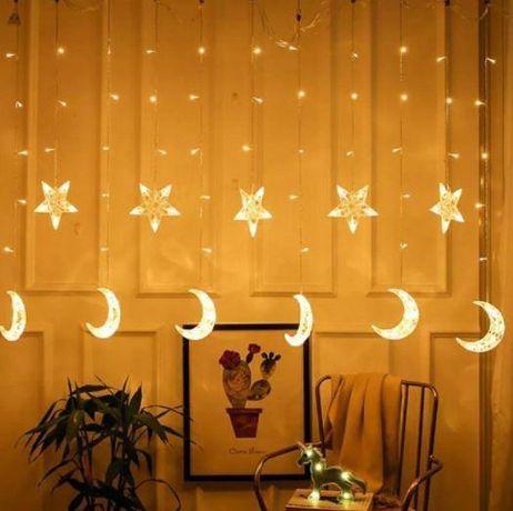 Гірлянди у Формі місяця і зірок