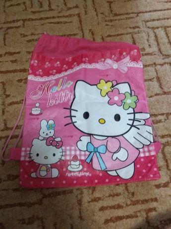 Сумка спортивная/рюкзак для обуви/сменки/сменной обуви Hello Kitty