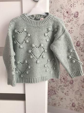 Sweterek zara 92 mięta