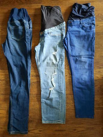 Jeansy ciążowe L
