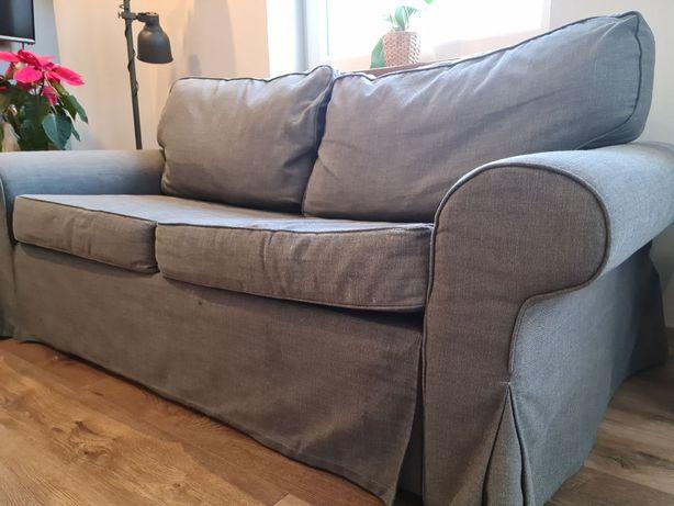 Evertsberg - Sofa 2-osobowa rozkładana, z pojemnikiem, ciemnoszara