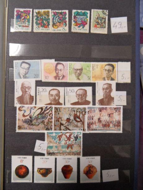 chiny znaczki pocztowe chińskie czyste serie zestawy