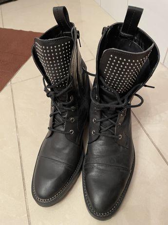 Sztyblety, botki biker boots ZARA 40/41